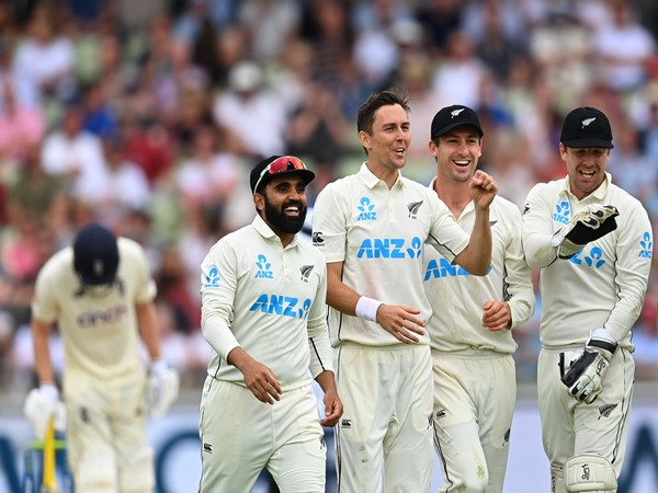 Trent Boult celebrates after taking wicket against England (Photo/ ICC Twitter)