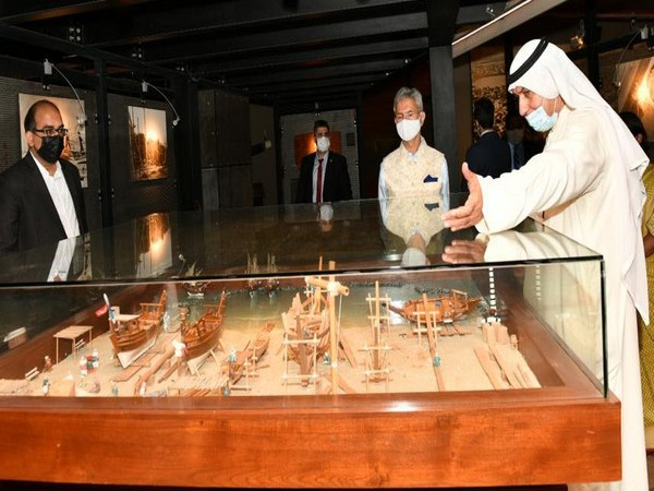 Jaishankar at a Museum in Kuwait during his bilateral visit. (Photo: EAM Twitter handle)