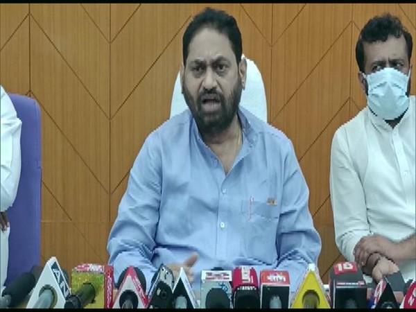 Maharashtra Energy Minister Nitin Raut speaking to reporters in Aurangabad on Friday. [Photo/ANI]