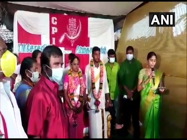 Visual from Socialism and Mamatha Banerjee's wedding in Tamil Nadu's Salem (Photo/ANI)