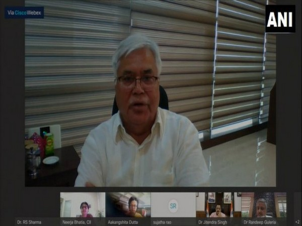 Co-WIN platform chief Dr RS Sharma speaking during the virtual submit