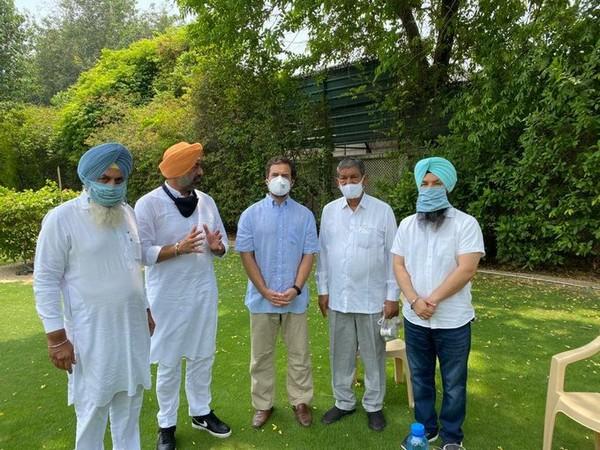 MLAs Sukhpal Singh Khaira, Jagdev Singh, and Pirmal Singh met Congress leader Rahul Gandhi.