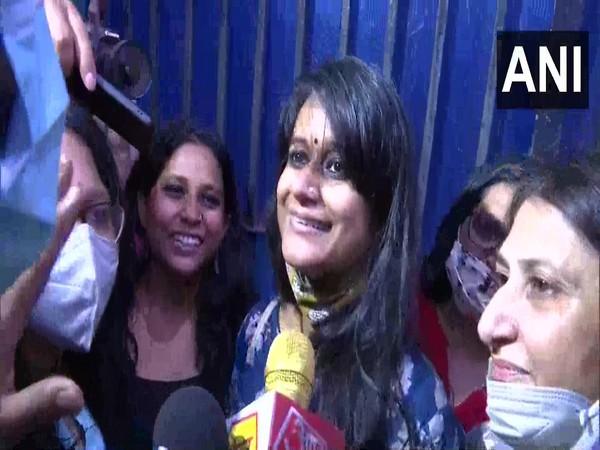 Student activists Natasha Narwal, Devangana Kalita released from Tihar jai; (Photo/ANI)