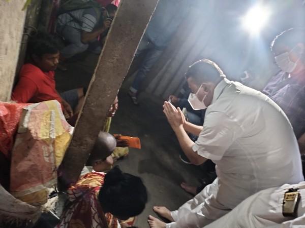 Suvendu Adhikari visits local BJP whose son died in lightning strike (Photo/ANI)
