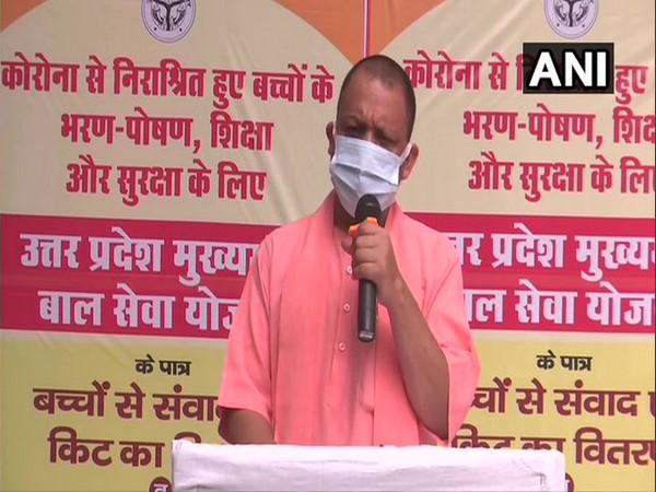 Uttar Pradesh CM Yogi Adityanath during Press Conference (Photo/ANI)