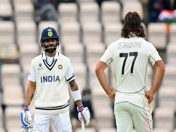 Virat Kohli in action against New Zealand (Photo/ ICC Twitter)