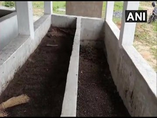 The site from where cow dung was stolen. (Photo/ANI)