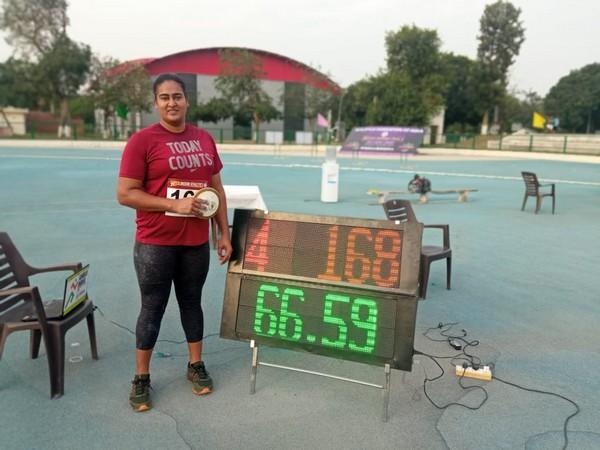 Kamalpreet Kaur (Photo: Twitter/Athletics Federation of India)