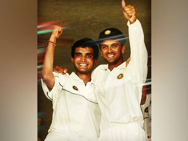 Sourav Ganguly and Rahul Dravid (Image: BCCI)