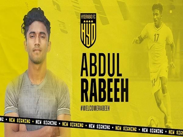 Abdul Rabeeh AK (Image: Hyderabad FC)