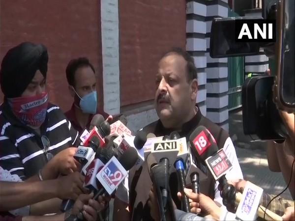 Devender Rana, Provincial President NC, Jammu (Photo/ANI)