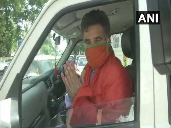BJP's Jammu and Kashmir unit chief Ravinder Raina left Jammu for Delhi to participate in all-party meeting with PM Modi (Photo/ANI)