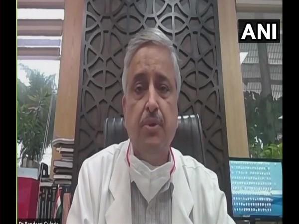 AIIMS Delhi Director Dr Randeep Guleria speaking to ANI