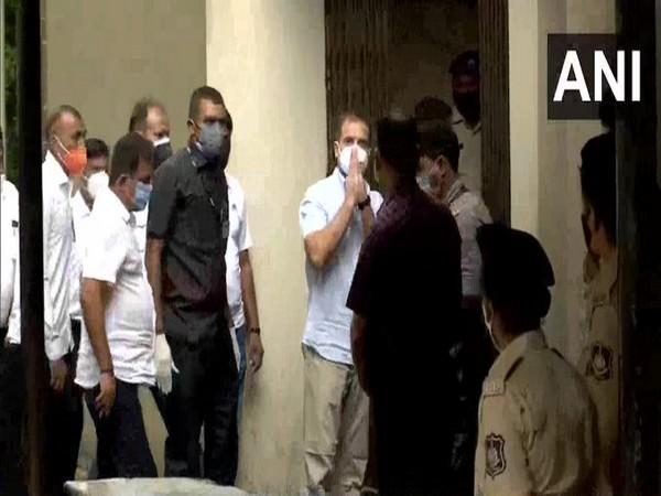 Congress leader Rahul Gandhi at Surat court