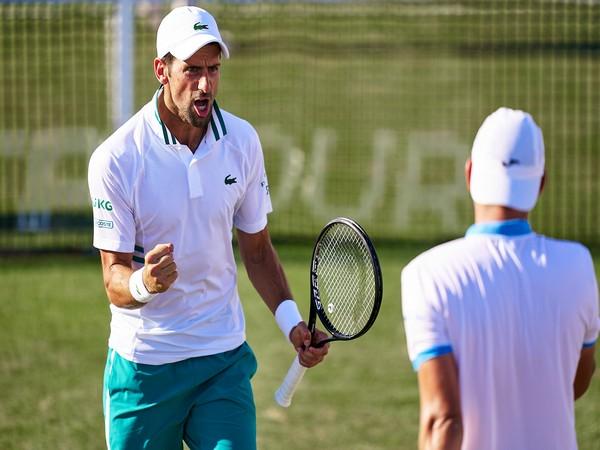 Novak Djokovic at the Mallorca Championships (Photo: Twitter/ Mallorca Championships)