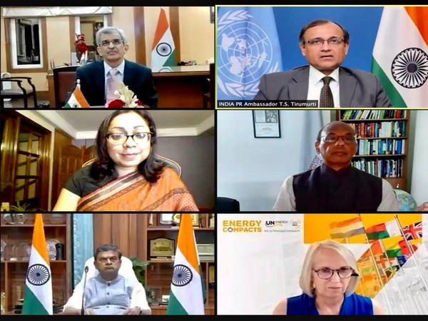 Ambassador of India T S Tirumurti (top on right) co-hosting event at UN along with other diplomates. (Photo: Twitter)