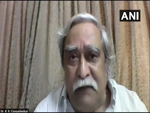 Dr Raman R Gangakhedkar, former Head Scientist of Epidemiology and communicable diseases, ICMR speaking to ANI on Saturday. [Photo/ANI]