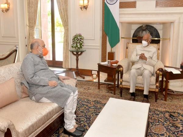 Union Home Minister called on President Ram Nath Kovind on Friday (Photo/Twitter- @rashtrapatibhvn)
