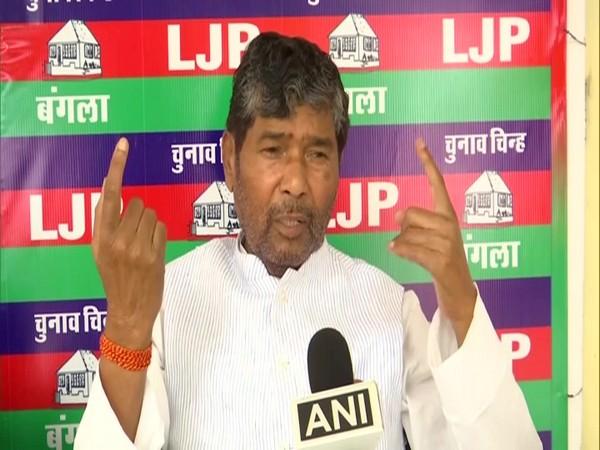 Lok Janshakti Party leader Pashupati Kumar Paras speaking to ANI