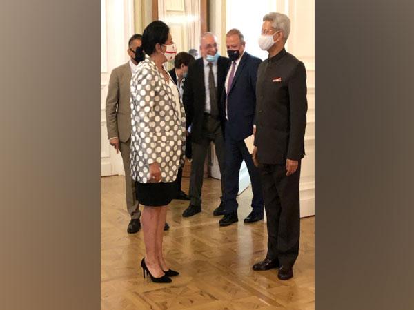 External Affairs Minister S Jaishankar and Georgian President Salome Zourabichvili (Photo Credit: Twitter)