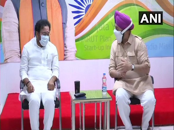 Sikh delegation including BJP's RP Singh met MoS G Kishan Reddy (Photo/ANI)