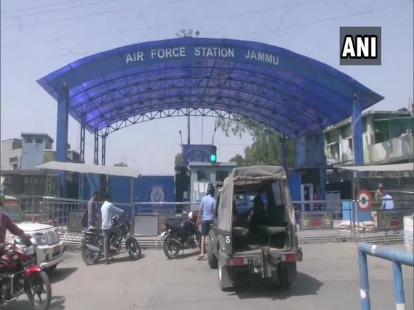 Visuals from outside Jammu Air Force Station (Photo/ANI)