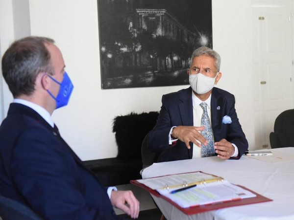 External Affairs Minster S Jaishankar and UK Foreign Secretary Dominic Raab