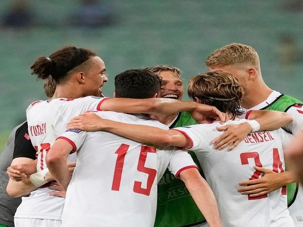 Denmark football team (Image: UEFA Euro 2020's Twitter)