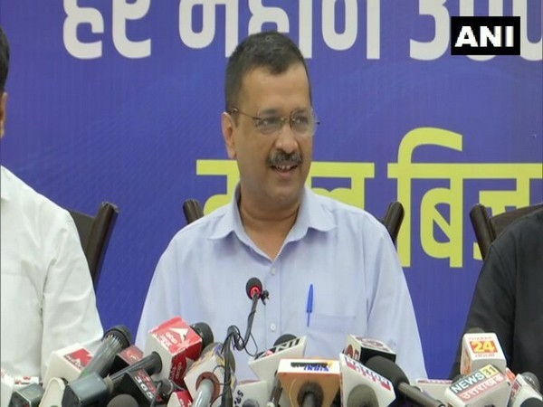 Delhi Chief Minister and AAP leader Arvind Kejriwal addressing a press conference in Dehradun on Sunday. [Photo/ANI]