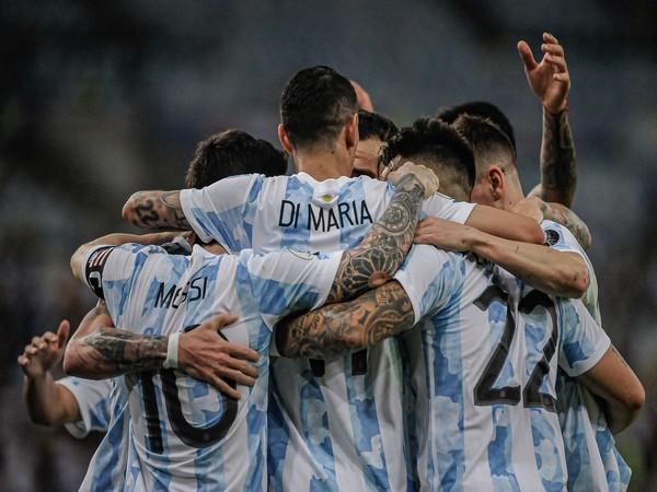 Lionel Messi and Angel Di Maria (Photo: Twitter/Seleccion Argentina)