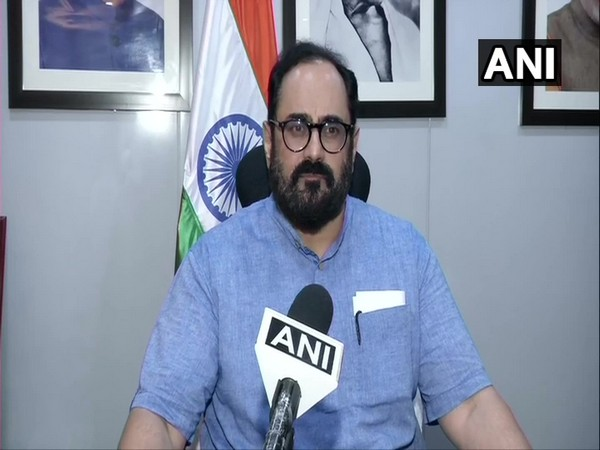 Minister of State in the Ministry of Electronics and Information Technology Rajeev Chandrasekhar (Photo/ANI)