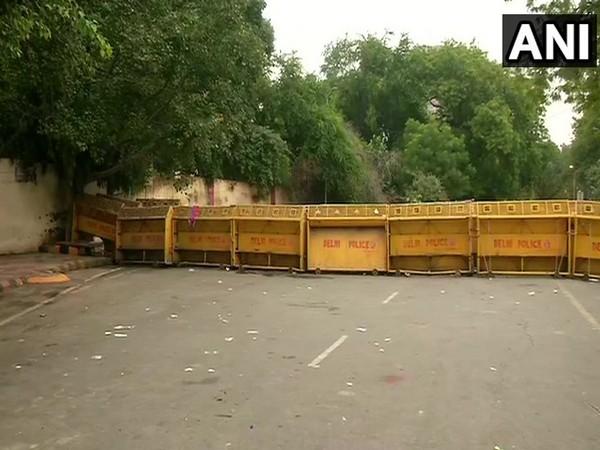 A visual from Jantar Mantar in New Delhi on Thursday. [Photo/ANI]