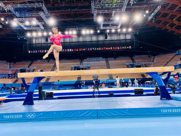 Artistic gymnast Pranati Nayak (Photo: Twitter/PIB Patna)