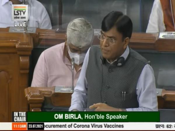 Union Health Minister Mansukh Mandaviya at Lok Sabha (Source: LSTV)