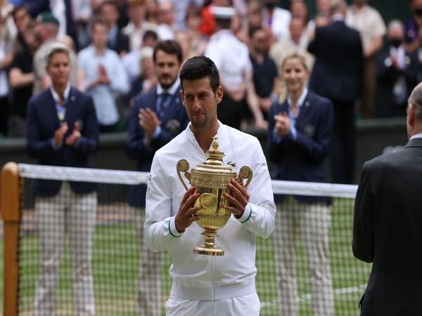 Novak Djokovic (Photo/ Wimbledon Twitter)