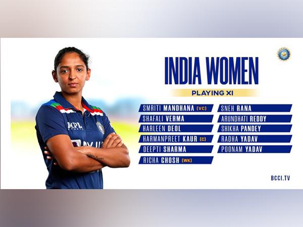 India win toss, opt to bat (Photo/ BCCI Women Twitter)