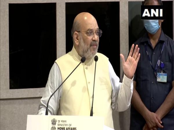 Union Home Minister Amit Shah at Gandhinagar (Photo/ANI)
