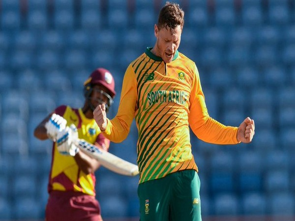 South Africa's George Linde in action (Photo/ ICC Twitter)
