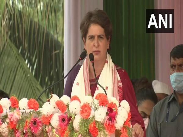 Congress leader Priyanka Gandhi Vadra. [File Photo/ANI]