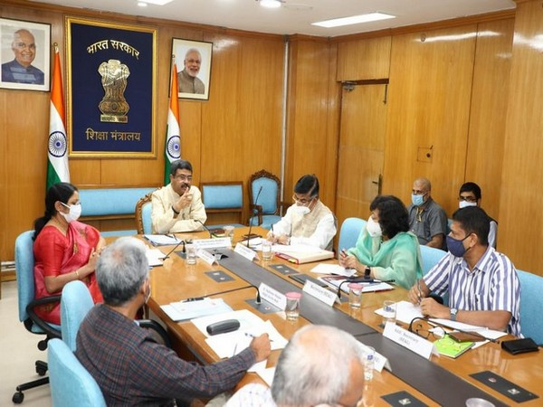 Visual of meeting chaired by Union Minister Dharmendra Pradhan. (Photo/ANI)