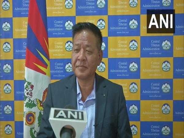 President of the Tibetan government-in-exile, Penpa Tsering speaking to ANI. (Photo/ANI)