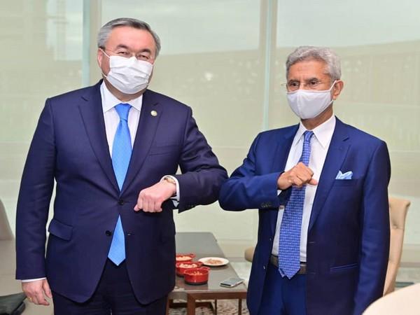 S Jaishankar met his Kazakh counterpart Mukhtar Tileuberdi
