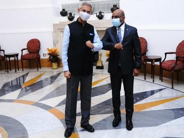 External Affairs Minister S Jaishankar and Maldives Foreign minister Abdulla Shahid