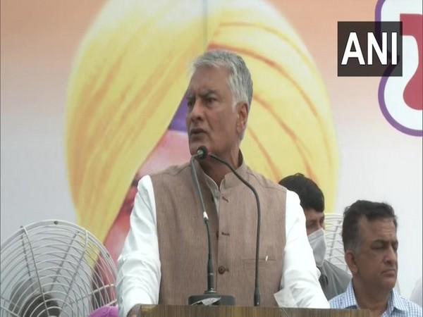 Congress leader Sunil Jakhar addressing a party program on Friday. [Photo/ANI]