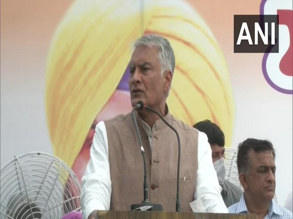Congress leader Sunil Jakhar speaking at a party program on Friday. [Photo/ANI]