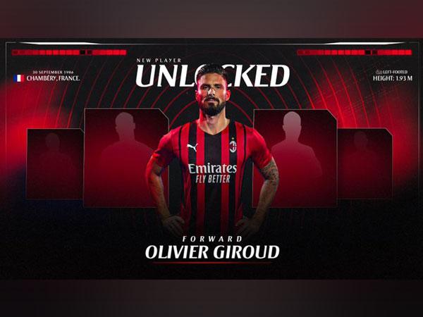 AC Milan sign Olivier Giroud (Photo/ AC Milan Twitter)