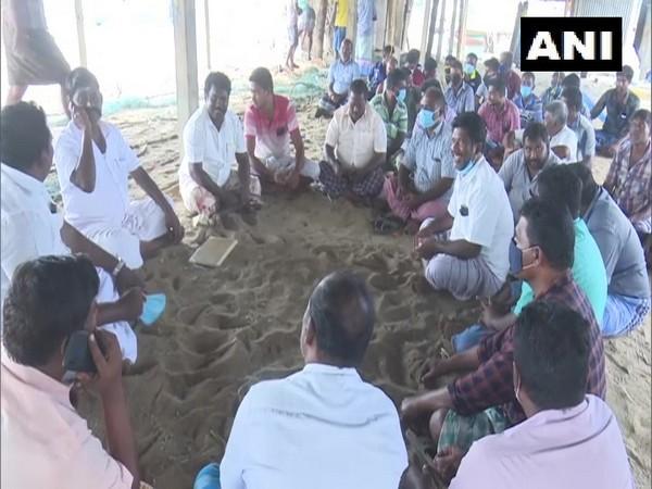 Visual of protests at Rameswaram beach (Photo/ANI)