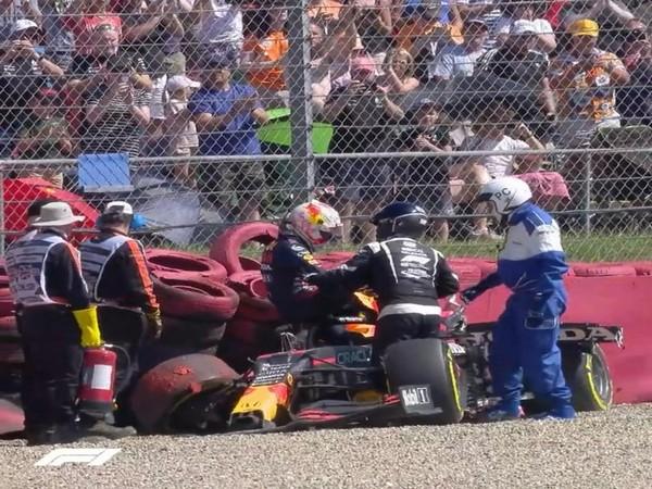 Max Verstappen and Lewis Hamilton collide at British GP (Photo/ Max Verstappen Twitter)