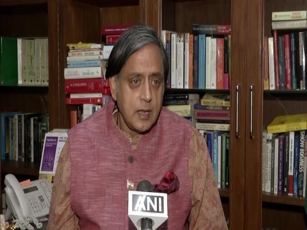 Congress leader Shashi Tharoor speaking to ANI