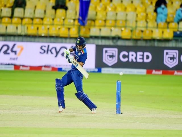 Shikhar Dhawan in action against Sri Lanka (Photo/ BCCI Twitter)